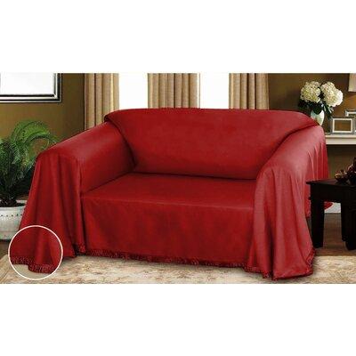 Dixie Dobby Weave Furniture Throw Ruby Size: 70 x 90