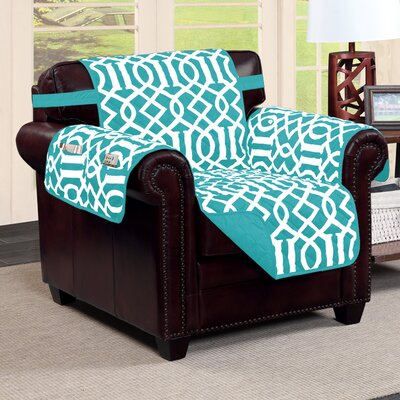 Tori Box Cushion Armchair Slipcover Finish: Aqua
