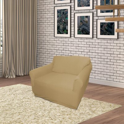 Jersey Box Cushion Armchair Slipcover Upholstery: Linen