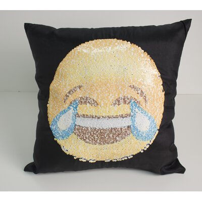 Emoji Smile/Cry Throw Pillow
