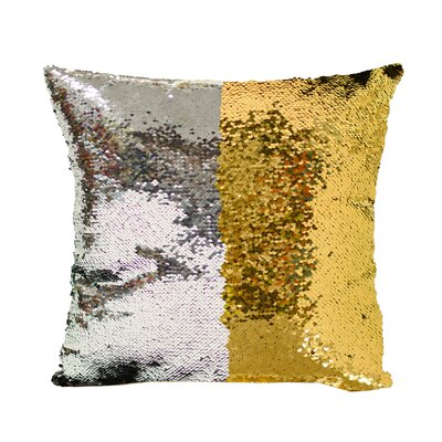 Laraine Sequin Throw Pillow Color: Silver and Gold
