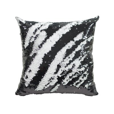 Laraine Sequin Throw Pillow Color: Black and White Matte