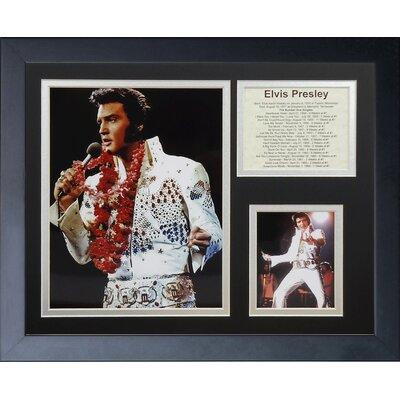 Elvis Presley White Suit Framed Memorabili 16447U