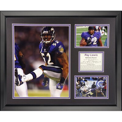 NFL Baltimore Ravens - Ray Lewis Home Framed Memorabili 19860U