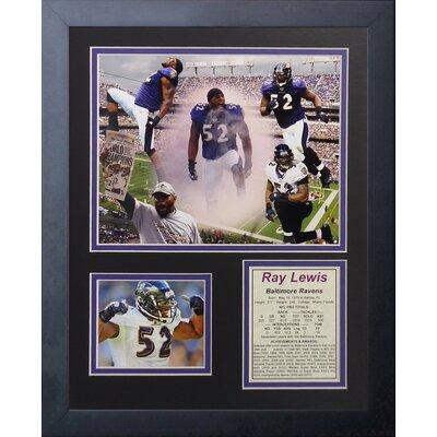 Baltimore Ravens Ray Lewis Collage Framed Memorabili 11807U