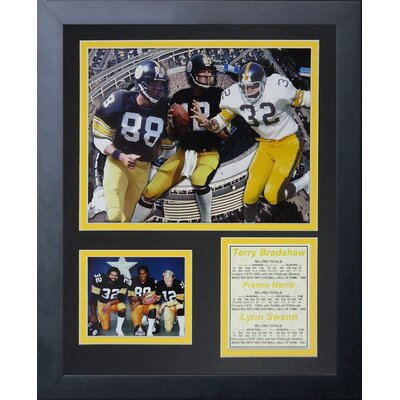 Pittsburgh Steelers 70's Big 3 Framed Photo Collage