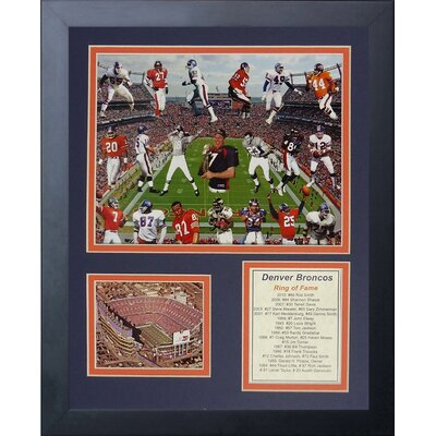 Denver Broncos Bronco Greats Framed Memorabili 11542U