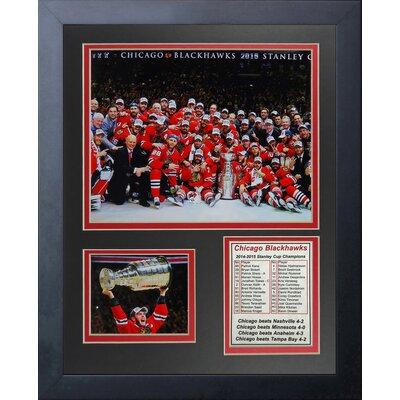NHL Chicago Blackhawks 2015 Stanley Cup Champions Framed Memorabilia 12717U