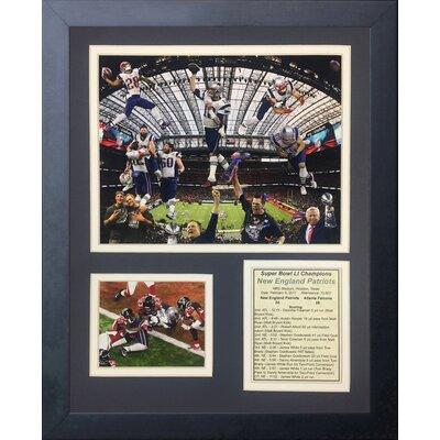 '2016 New England Patriots Champions Collage' Framed Memorabilia 11837U