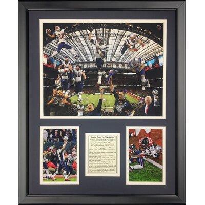 '2016 New England Patriots Champions Collage' Framed Memorabilia 20107U