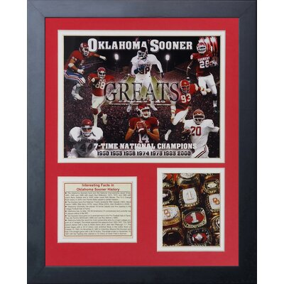 Oklahoma Sooners Greats Framed Memorabilia 12176U
