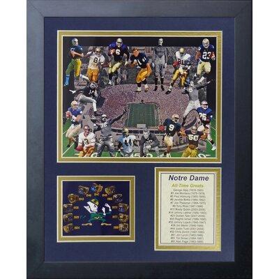 Notre Dame Greats Framed Memorabilia 12152U