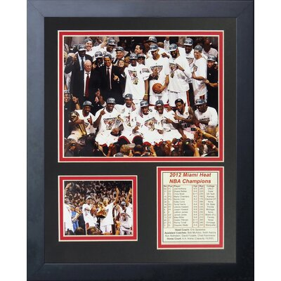 2012 Miami Heat NBA Champions Podium Framed Memorabilia 12327U