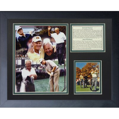 Jack Nicklaus and Arnold Palmer Framed Memorabilia 12960U