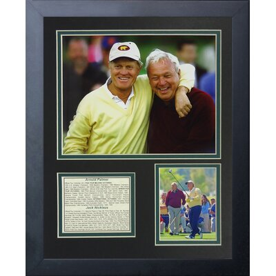 Jack Nicklaus and Arnold Palmer Portrait Framed Memorabilia 12961U