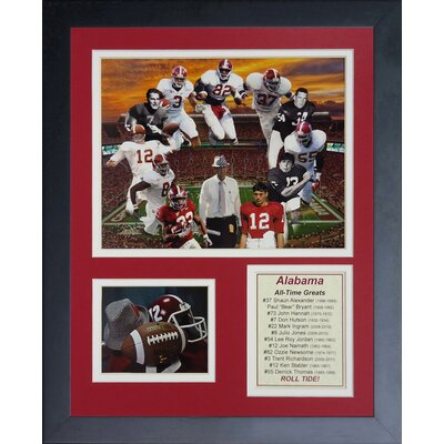 Alabama Crimson Tide Greats Framed Memorabilia 12017U