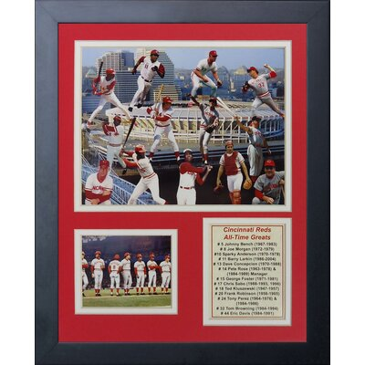 Cincinnati Reds Greats Framed Memorabilia 11327U