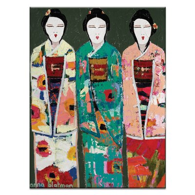 Spring Geisha by Anna Blatman Painting Print on Wrapped Canvas Size: 20