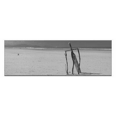 Beach Cricket by Andrew Brown Framed Photographic Print on Wrapped Canvas in Grey 50AB - P2626 - P