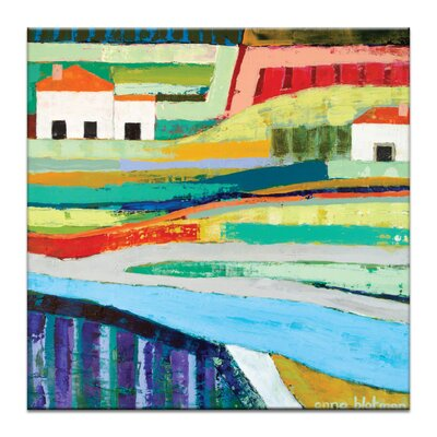 Farm House by Anna Blatman Painting Print on Wrapped Canvas Size: 40