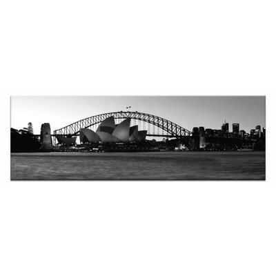 Opera Twilight by Andrew Brown Framed Photographic Print on Wrapped Canvas in Grey 12AB - P2626