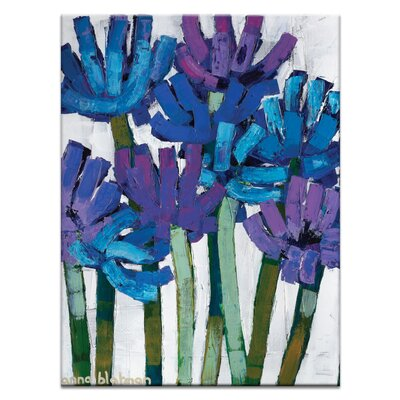 """Agapanthas By Anna Blatman Painting Print On Canvas Size: 40"""" H X 30"""" W X 1.5"""" D"""