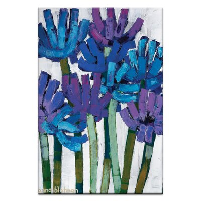 """Agapanthas By Anna Blatman Painting Print On Canvas Size: 60"""" H X 40"""" W X 1.5"""" D"""