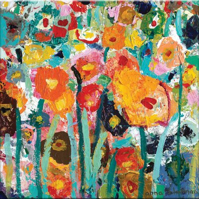 'Palette Poppies' Painting Print on Canvas Size: 16