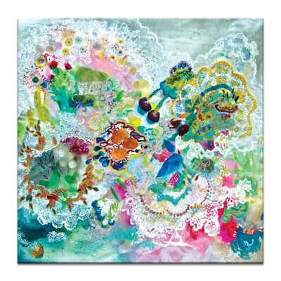 """Agua By Lia Porto Painting Print On Wrapped Canvas Size: 40"""" H X 40"""" W X 1.5"""" D"""