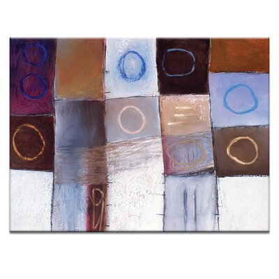 'Circle Game 2' Acrylic Painting Print on Canvas Size: 16