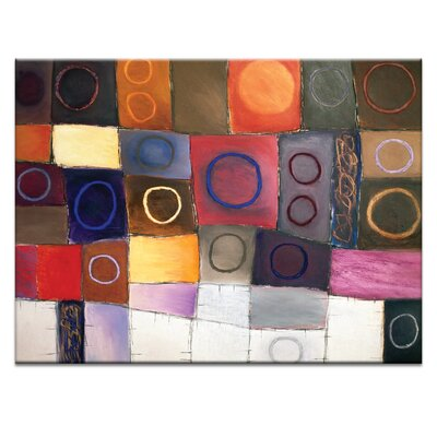 'Circle Game 5' Acrylic Painting Print on Canvas Size: 16