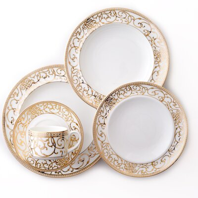 Athena Bone China 5 Piece Place Setting, Service for 1 DAAT181041