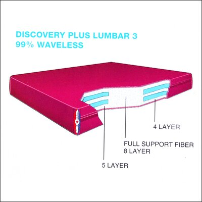 Discovery Plus Water Lumbar 3 9 Waterbed Mattress Size: Queen