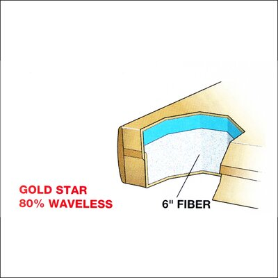 Dreamweaver The Ultimate 9 Gold Star Waterbed Mattress Size: King