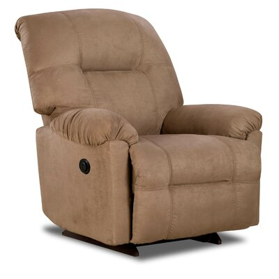 Austin Rocker Recliner Type: Manual, Upholstery: Camel