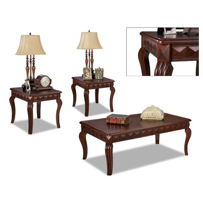 Champaign 3 Piece Coffee Table Set