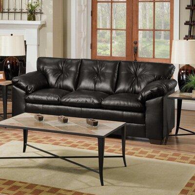 Pilsen Sofa Upholstery: Black
