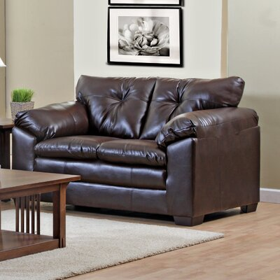 Pilsen Loveseat Upholstery: Brown