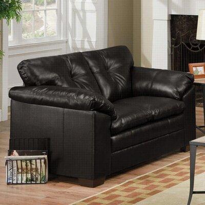 Pilsen Loveseat Upholstery: Black