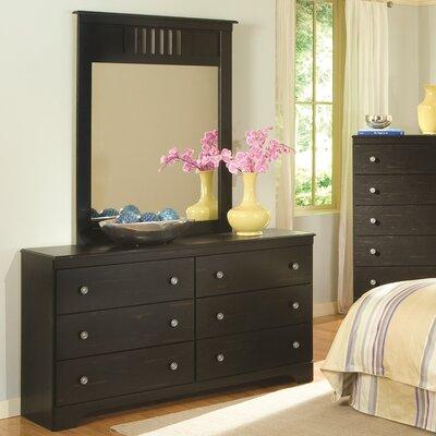 Brady Furniture Industries Taylor 6 Drawer Dresser with Mirror