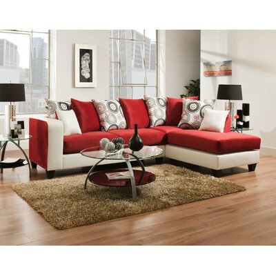 Revolt Sectional Upholstery: Red