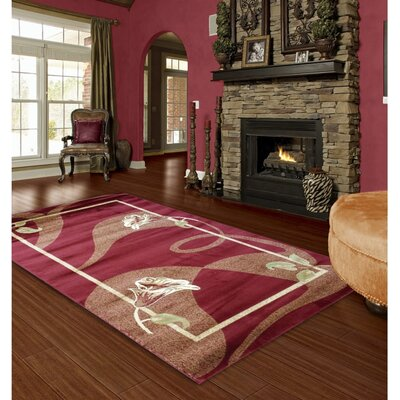 Maddisyn Floral Red Area Rug