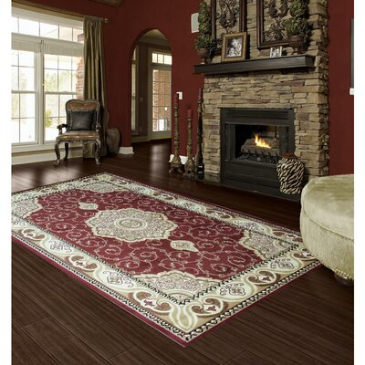 Thaxter Traditional Antique Brown/Red Area Rug