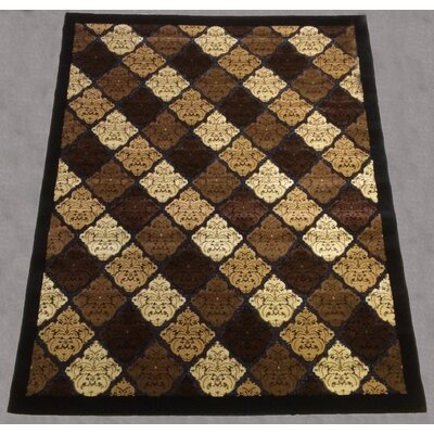 Alexzandre Geometric Floral Brown Area Rug