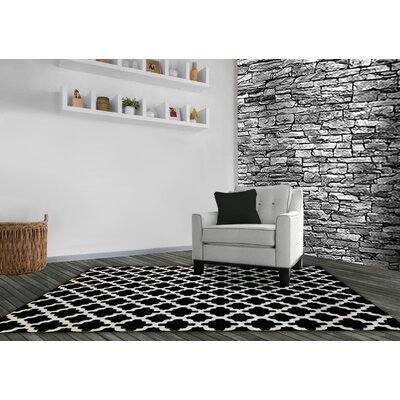 Michaelis Trellis Black Area Rug