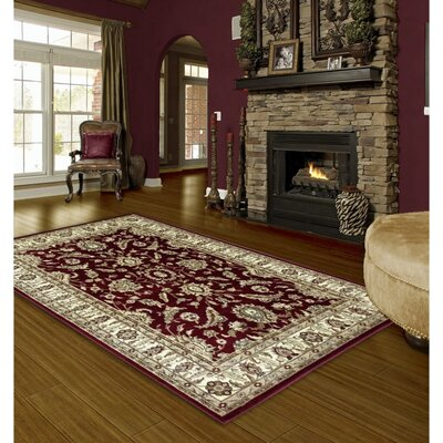 Rausch Traditional Red/Beige Area Rug