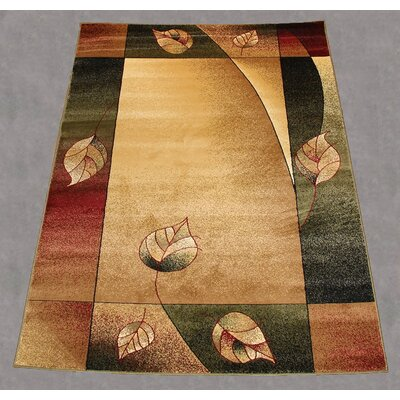 Jovanny Floral Ivory/Green Area Rug Rug Size: Rectangle 5 x 8