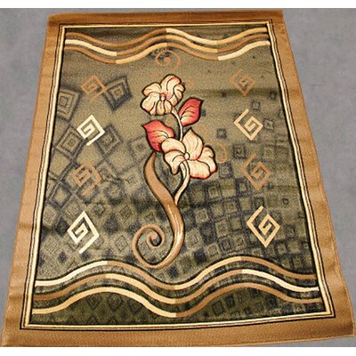 Lorie Contemporary Green Area Rug