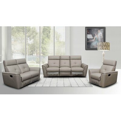Noci Leather Configurable Living Room Set