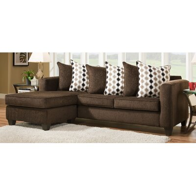 Pottery Reversible Chaise Sectional Upholstery: Mahogany